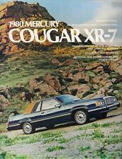 Mercury Cougar XR-7 1980 USA Market Sales Brochure Decor Luxury Sports Group