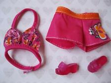 Barbie Doll clothes~Swimming Suit Swimsuit & Matching Shoes Ensemble Boy Shorts