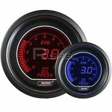 Prosport 52mm EVO Car Oil Pressure Gauge BAR LCD Digital Display Red and Blue