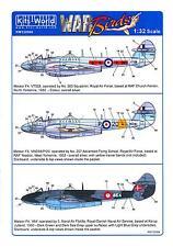 Kits World Decals 1/32 GLOSTER METEOR F.4 British Jet Fighter