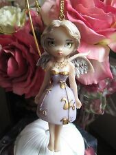 STRANGELING ANGEL IN LILAC FAIRY ORNAMENT FIGURINE JASMINE BECKET-GRIFFITH NEW
