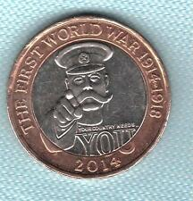 Elizabeth II. £2 Pounds 2014 WW1 Kitchener Your Country Needs You. Coin Hunt