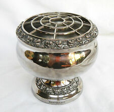 Vintage Ianthe English Silver Plate / Plated Rose Bowl Vase  c 1960s