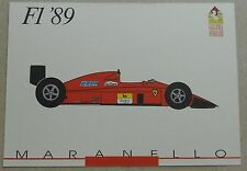Galleria Ferrari 1993 f1 1989 Scheda Card brochure prospetto book libro Press