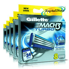 5x Gillette Mach3 TURBO Replacement Blades Pack Of 8 Cartridges