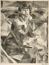 Jacques Villon Reproduction: Portrait of a Seated Woman - Fine Art Print