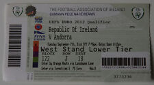 old TICKET * EURO 2012 q * Republic of Ireland - Andorra in Dublin