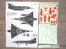 """MIRAGE-5  """"BELGIAN BR-15 MEPHISTO"""" DACO PRODUCTS DECALS 1/72-48"""