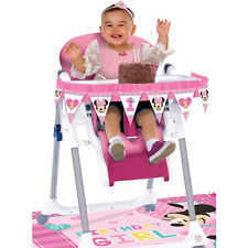 MINNIE MOUSE Fun to Be One HIGH CHAIR DECORATING KIT (2pc) ~ 1st Birthday Party