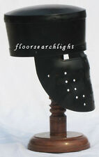 MEDIEVAL KNIGHT ARMOUR HELMET BLACK FINISHED REENACTMENT LARP COSTUME REPLICA