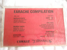 EARACHE COMPILATION CASSETTE NAPALM DEATH MORBID ANGEL CARCASS ENTOMBED GODFLESH