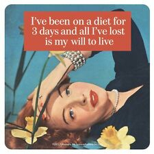 I've Been On A Diet For 3 Days...  funny cork backed drinks mat / coaster (hb)
