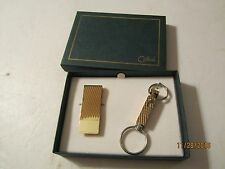 Vintage New rass Key Chain and Money Clip by Colibri w/Box