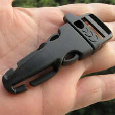 5X Side Release whistle Buckle Flint Fire Starter Scaper for Paracord Bracelet
