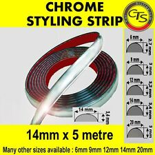 14mm x 5m CHROME DETAIL STYLING STRIP TRIM AUDI 80 100 A3 TT 90 B4 A4
