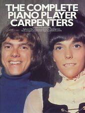 The Complete Piano Player The Carpenters Learn to Play Vocal & Guitar Music Book