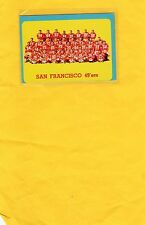 1963 TOPPS SAN FRANSICSO 49ers TEAM PHOTO