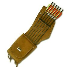 TRADITIONAL LEATHER SIDE/HIP ARROW QUIVER AQ142 L/H
