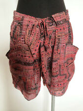 BNWT ISABEL MARANT S/S2012 RED SILK LUREX SHORTS Sz 36