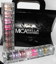 2x8 STACKS Mica Beauty Cosmetics Eye Shadows  GLITTER+ Cotton CANDY