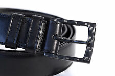 2BELT exclusive men belt - black leather with 100% carbon fiber buckle