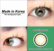 GREEN eye color contacts lenses Crazy Halloween Cosmetic Makeup Cosplay - X9I