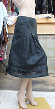 Designer Sample UK Size 12 BNWT Wonderful Below Knee Black Taffeta Evening Skirt