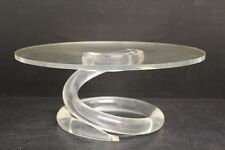 "Vintage Dorothy Thorpe Lucite / Acrylic Spring Shape Cake Stand, 11"" Diameter"