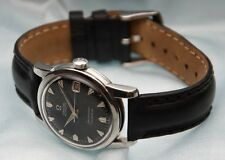 Vintage Stainless Steel Omega Seamaster Automatic Calendar 502 Cal Black Dial