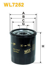 WIX WL7252 Car Oil Filter - Spin-On Replaces W6103FIAT PH5949 OC986