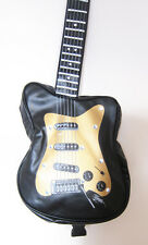 BLACK ELECTRIC GUITAR SHAPED Retro overnight/gym/holdall/flight/school bag, new