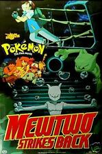 "Pokemon Mewtwo Strikes Back Ash Squirtle Pikachu  Movie Poster 22""x 34"" 423"