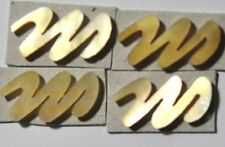 LE-LGM# 4 Lowercase M in Gold Mother of Pearl 16.8mm x 8.9mm x 1.5mm thickness