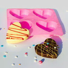 Heart Shaped Silicone Fondant Mold Tool Cake Chocolate Baking Soap Ice Mould DIY