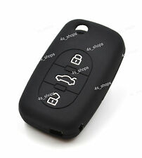 3 Buttons Black Silicone Cover Flip Remote Key Case Shell Holder For AUDI A2 TT