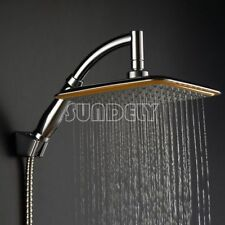 8 inch Square Rainfall Shower Head arm Extension set, Saving Water, chrome