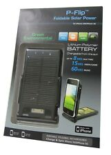 P-Flip foldable Solar Power Apple iPhone 3GS / 3G / 4S / 4 schwarz 2000mAh Akku