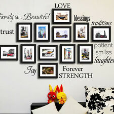 Wall Stickers Decal For Decor Home Family Picture Photo Frame