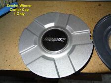 GENUINE ZENDER WINNER CENTER CAP for WHEEL SILVER (CAP ONLY, NO WHEEL)