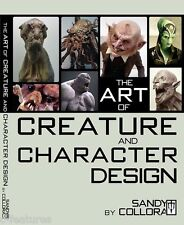 ART OF CREATURE & CHARACTER DESIGN Sandy Collora PAPERBACK FX Book OUT OF PRINT