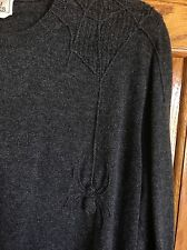 HERMES Men's 100% Cashmere Sweater with Spider Motif XL