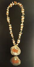 Stunning MIRIAM HASKELL Shell Coral Baroque Pearl Necklace