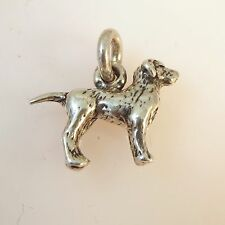 .925 Sterling Silver 3-D LABRADOR RETRIEVER CHARM NEW Puppy Dog Pendant 925 DG24