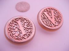 Antique French Victorian Art Nouveau Solid Silver & MOP Pearl Cufflink Buttons