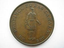 Canada 1837 Bas Halfpenny (1 Sous) Token, GEF. LC-8B1