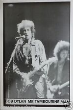 "BOB DYLAN ""MR TAMBOURINE MAN"" UK COMMERCIAL POSTER-& Heartbreakers Mike Campbell"