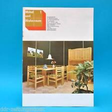 DDR Möbel und Wohnraum 1/1982 Fachzeitschrift Möbelbeschläge Falcon Landhausstil