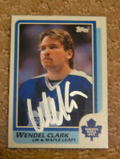 Wendel Clark Toronto Maple Leafs signed 8x10 Rookie Card RC