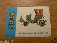V26 VEGE MATCHBOX LABELS GOBRON BRILLIE CAB 1903,LUCIFER-ETIKETTEN