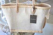Tommy Bahama Large Straw Beach Tote Shoulder Bag NWT
